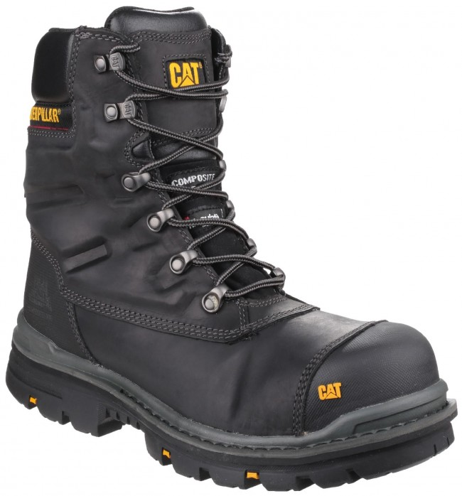 WORKWEAR Men's S3 Safety Black Water Resistant Steel toe capped size 8
