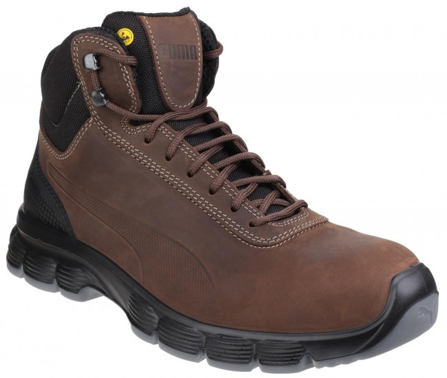 détaillant 9cc32 bbb11 Puma Safety Condor Mid S3 ESD Hiker Lace Up Work Boots Brix ...