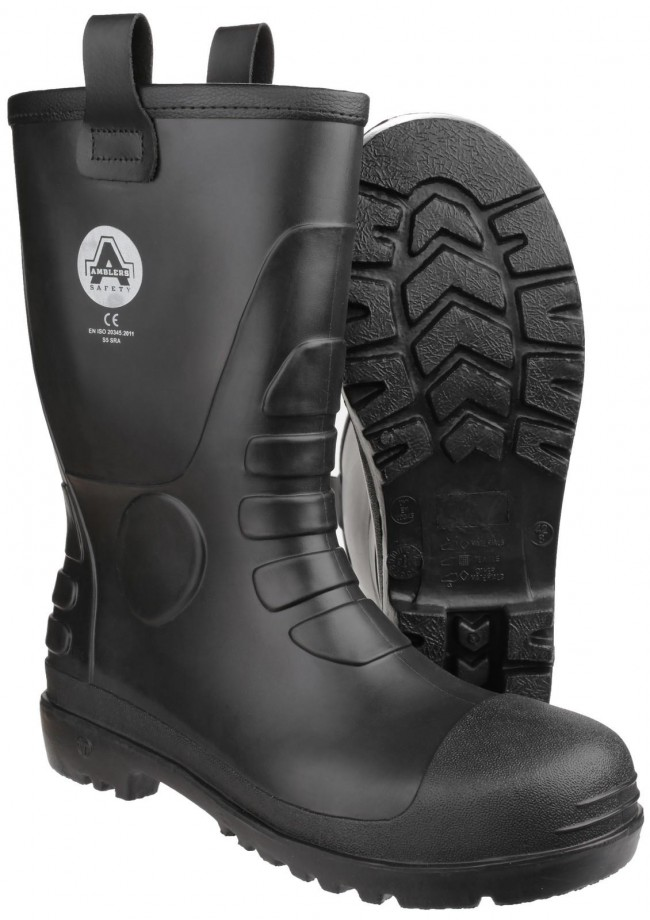 619a301862c Amblers FS90 Mens Waterproof PVC Pull on Safety Rigger Work Boot ...