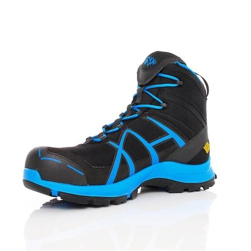 Haix Black Eagle Safety 40 Mid Blue Gore-Tex Waterproof Work Trainer ... 19ce68b2cc