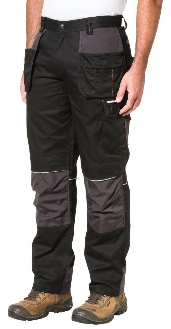 Mens Work Trousers Kneepad Cordura Holster Multi Pockets Cargo Combat HiVis Pant