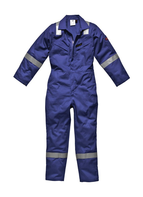 4d3f23be3b43 Dickies FR5055 Firechief Flame Retardant Lightweight Overall Royal Blue ·  Zoom