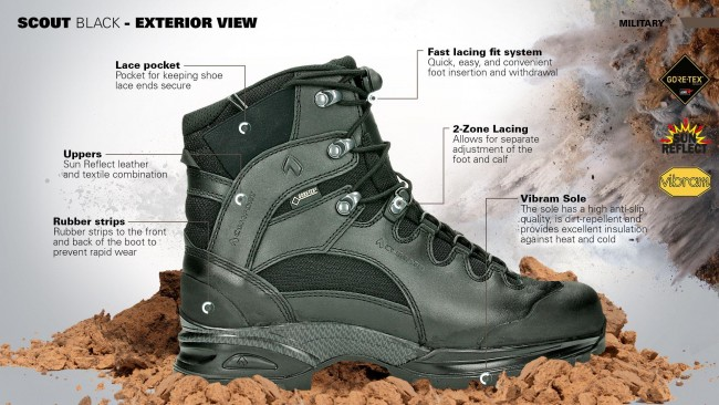 Haix Scout Black Gore-Tex Waterproof Breathable Army Military Boot Brix  Workwear